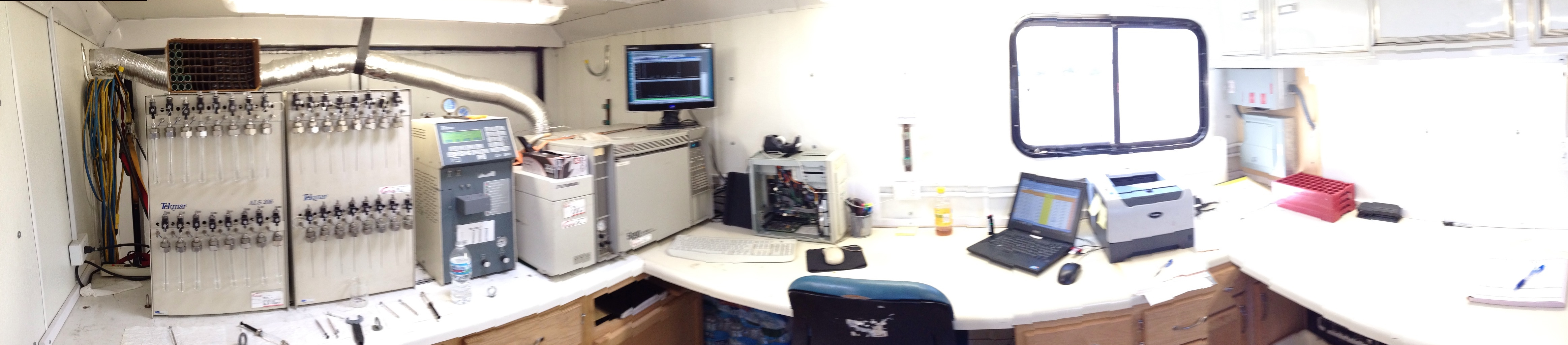 mobile lab interior